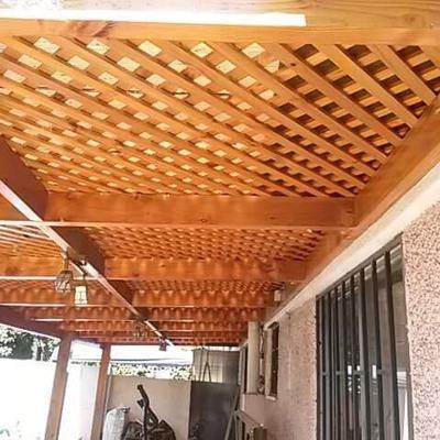 Pergola de madera (terminado)