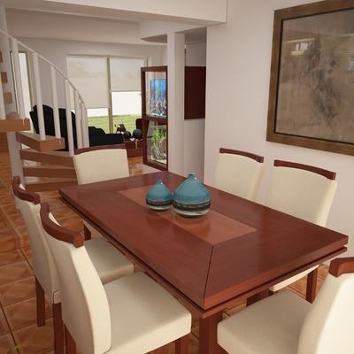 Render Proyecto Comedor,sillas,buffet