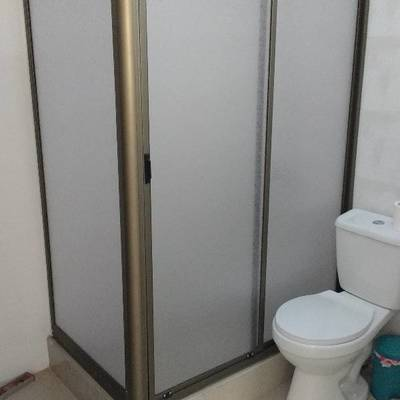 Shower door titanio