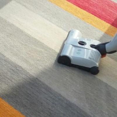Limpieza en seco de alfombras decorativas