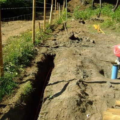 Alimentación para bomba de agua subterranea