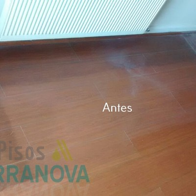Limpieza de piso flotante - Antes