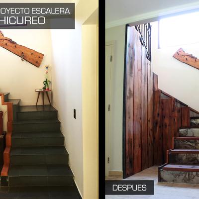 Proyecto renovación escalera casa PO - Chicureo.