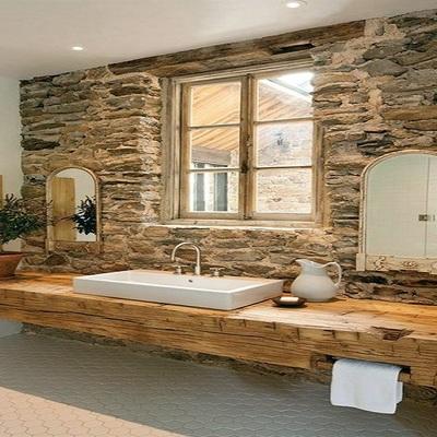 Baño estilo rústico