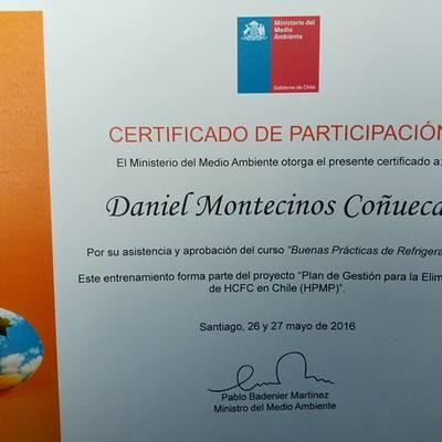 Certificado de Buenas Practicas de refigeración