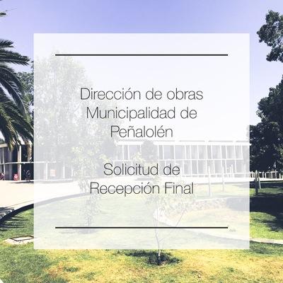 Recepción Final Peñalolén