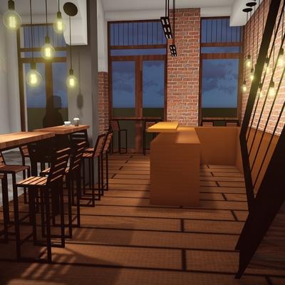 Propuesta diseño de interiores Café Aduana