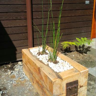 Jardineras en madera de Coihue