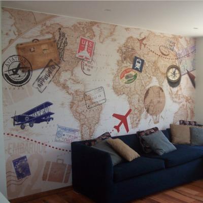 Salita de Estar Diseño Mural