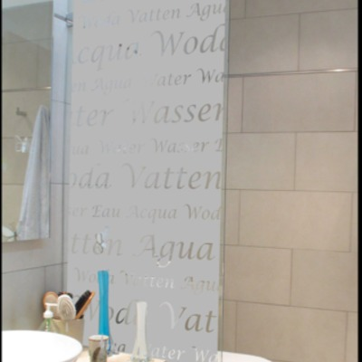 Empavoando Shower Door con Diseño