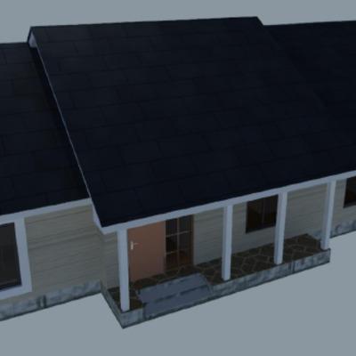 Casa techo dos aguas