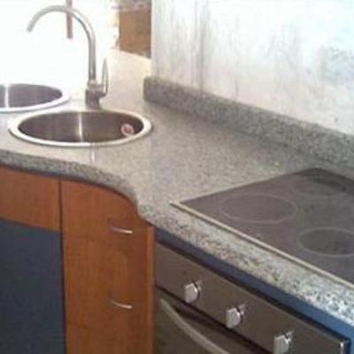 Cubierta de granito gris mara