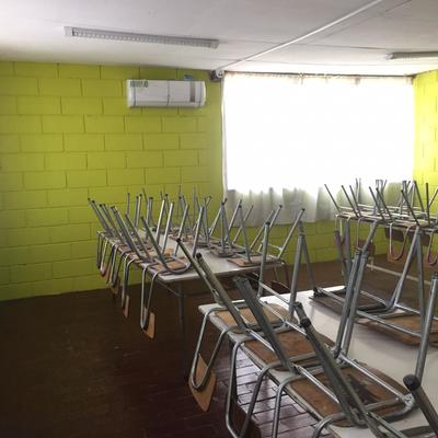 Climatización a 21 aulas de clase en lampas