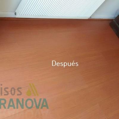 Limpieza de piso flotante - Después