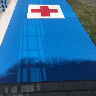 Pintado estacionamiento de Emergencia