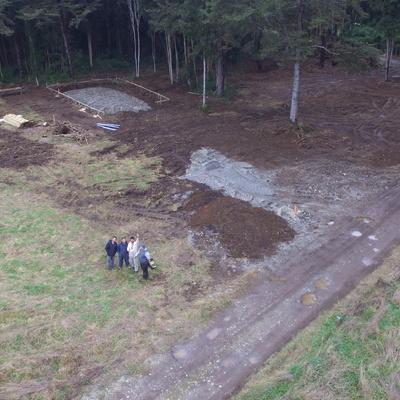 revisión aérea de emplazamiento de Proyecto Bruggemann - Del Valle