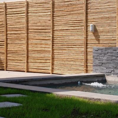 Revestimiento muros bambú