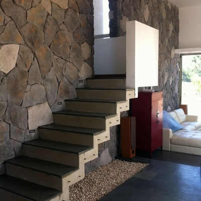 escalera casa fa colina