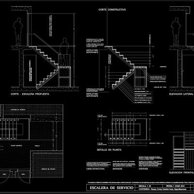 Diseño de Escalera Exterior