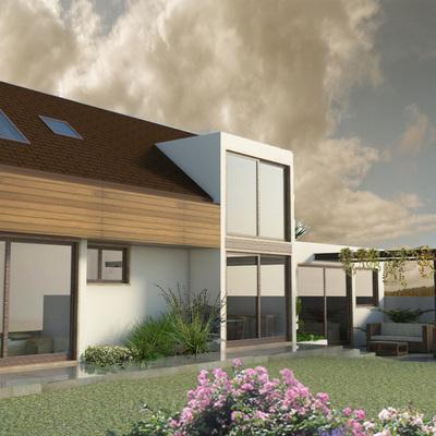 Casa de Vidts - Fachada norte