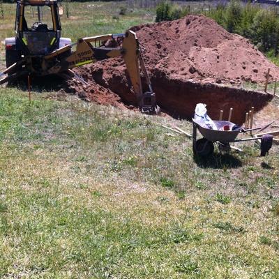 Excavación piscina
