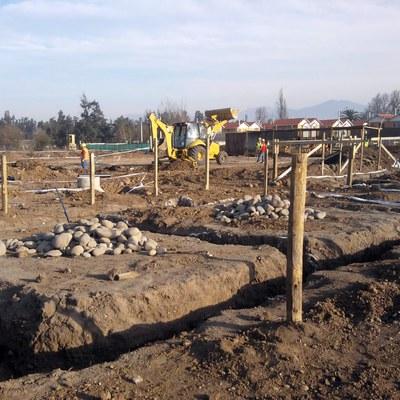 excavaciones para casas de tres pisos
