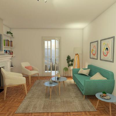 Propuesta Diseño Interior living comedor