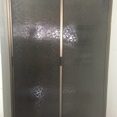 Shower door aluminio