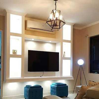 Mueble de TV con divisiones
