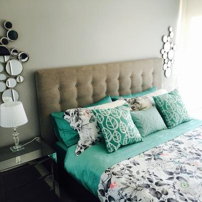 Dormitorio muebles espejados