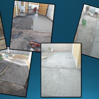 Radier patio lateral , fondo y frontal