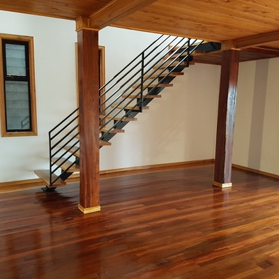 Escalera conbinacion fierro madera
