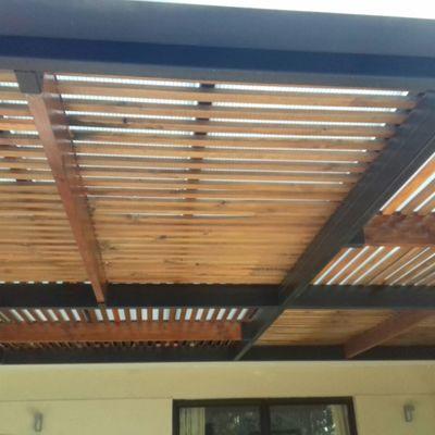 Reparación treillage de madera