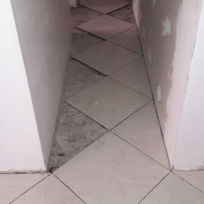 Intalacion de ceramica a 45°