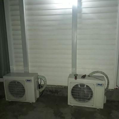 Instalación de equipos split muro alta eficiencia con canaleta tipo legrand de manera estetica