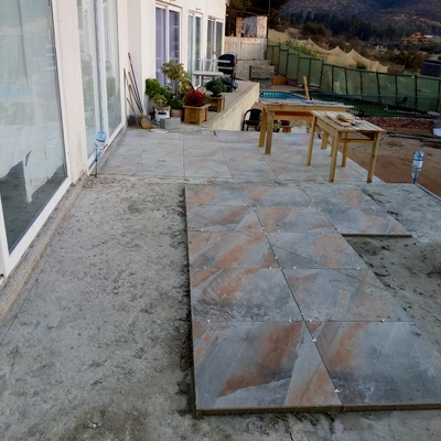 Instalación de cerámica exterior