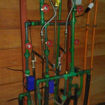 Manifold de calefacción por loza radiante