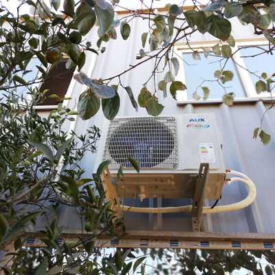Condensador de equipo aire acondicionado