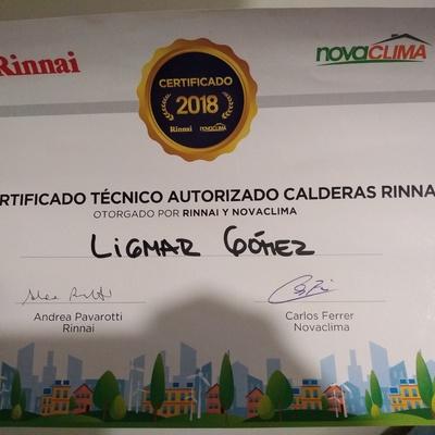 Tecnico certificado calderas rinnai