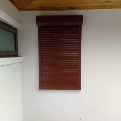 Persiana externa color madera