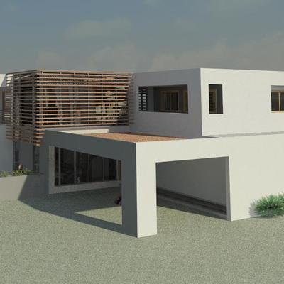 Render Exterior - Proyecto de arquitectura de  Vivienda FVM - La Cruz - Quillota - 2013