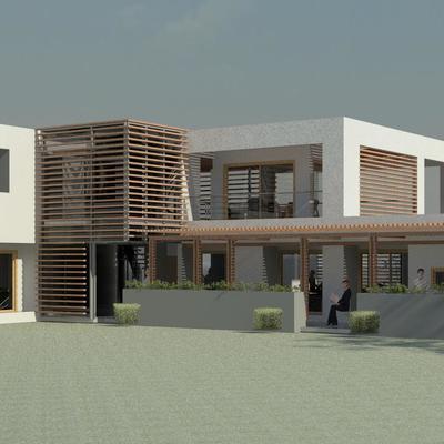 Render Exterior - Proyecto de arquitectura de  Vivienda FVM- La Cruz Quillota 2013