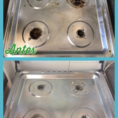 Limpieza artefacto de cocina