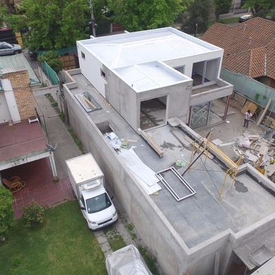 Proyecto y Construcción - Fotografía aera Vivienda en Construcción