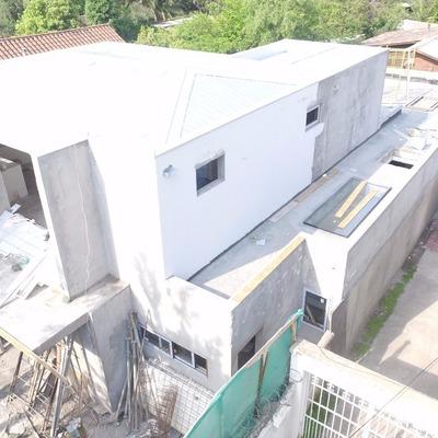 Vista aera de Vivienda en construcción