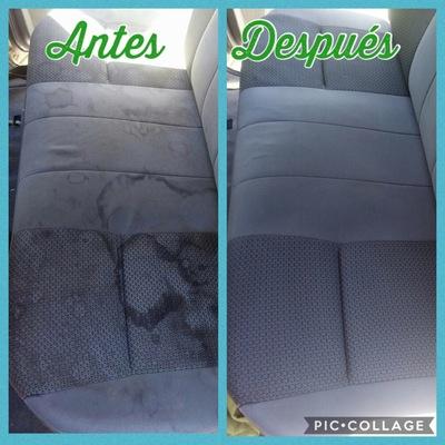 Limpieza de tapiz con vapor más productos desmanchantes