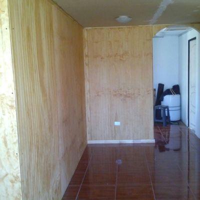 interior pasillos en proceso de terminaciones