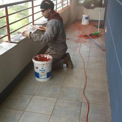 Tratamiento de Barandas de 22 Pisos y Cajas Escalas Edificio Eurovista _ Reñaca - Viña del Mar