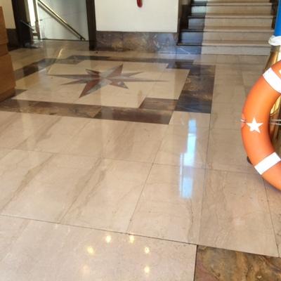 Limpieza y sellado de pisos de mármol Armada de Chile