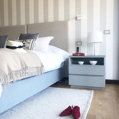 Diseño velador y respaldo cama en  Dormitorio